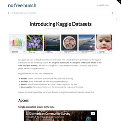 Introducing Kaggle Datasets