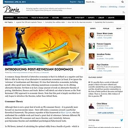 Introducing Post-Keynesian Economics
