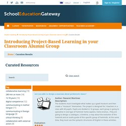 Introducing Project-Based Learning in your Classroom Alumni Group - Teachers academy