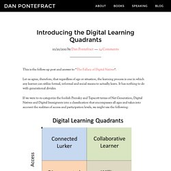 Introducing the Digital Learning Quadrants