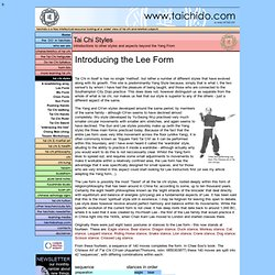 introducing the Lee Form of tai chi