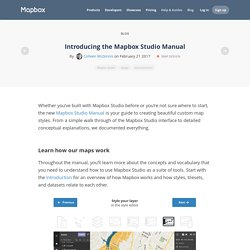 Introducing the Mapbox Studio Manual