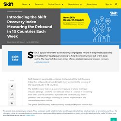 Skift Recovery Index - Measures Travel Rebound in 15 Countries Each Week