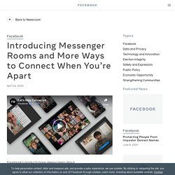 Introducing Messenger Rooms and More Ways to Connect When You're Apart - About Facebook