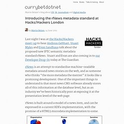 Introducing the rNews metadata standard at Hacks/Hackers London