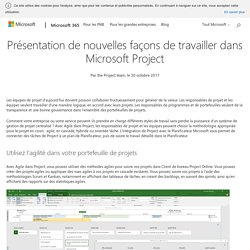 Introducing new ways to work in Microsoft Project