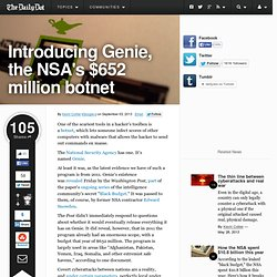Introducing Genie, the NSA's $652 million botnet