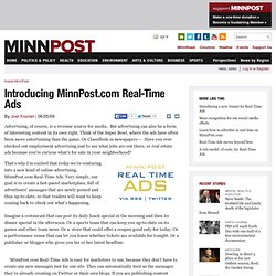 Introducing MinnPost.com Real-Time Ads