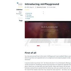Introducing mlrPlayground