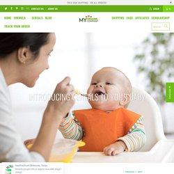 Introducing cereals to your baby - myorganiccompany