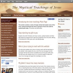Introducing the mystical teachings of Jesus