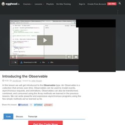 Introducing the Observable - js Video Tutorial #free
