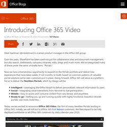 Introducing Office 365 Video