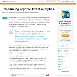 Introducing organic Tweet analytics