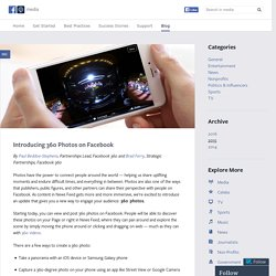 Introducing 360 Photos on Facebook
