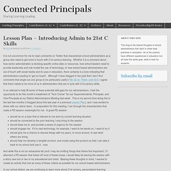 Lesson Plan – Introducing Admin to 21st C Skills