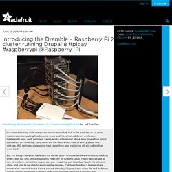 Introducing the Dramble – Raspberry Pi 2 cluster running Drupal 8 #piday #raspberrypi @Raspberry_Pi