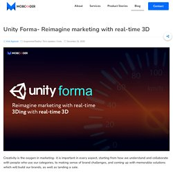Introducing Unity Forma- Now Reimagine Marketing With Real Time 3D