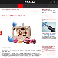 Introducing The MakerBot Replicator™