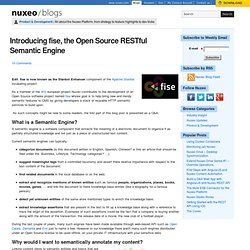 Introducing fise, the Open Source RESTful Semantic Engine, Nuxeo Developers Blog