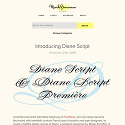 Introducing Diane Script – Notebook