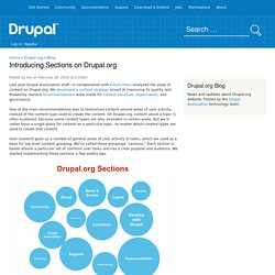 Introducing Sections on Drupal.org