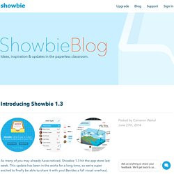 Introducing Showbie 1.3