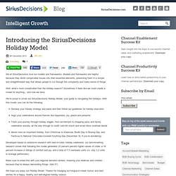 Introducing the SiriusDecisions Holiday Model