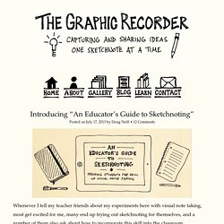 "Introducing ""An Educator's Guide to Sketchnoting"""