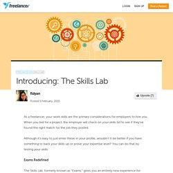 Introducing: The Skills Lab