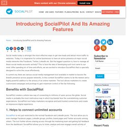 Introducing SocialPilot and Its Amazing Features
