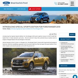 Introducing Special Sports Edition for Ford Ranger 2019