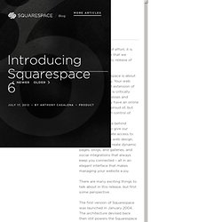 Introducing Squarespace 6
