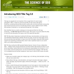 SEO Title Tag: A WordPress Plugin for SEO (Search Engine Optimiz