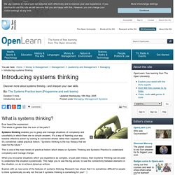 Introducing systems thinking