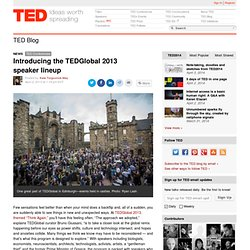 Introducing the TEDGlobal 2013 speaker lineup | TED Blog