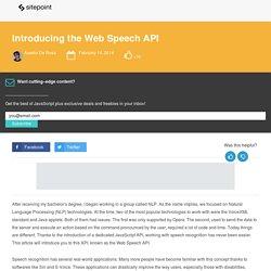 Introducing the Web Speech API
