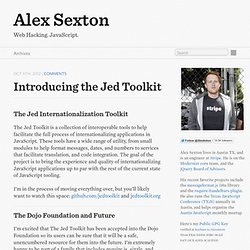 Introducing The Jed Toolkit - Alex Sexton