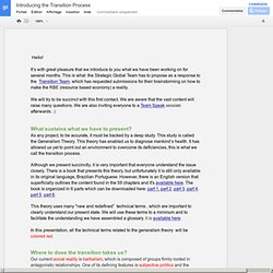 Introducing the Transition Process - Google Docs