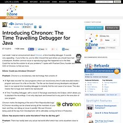 Introducing Chronon: The Time Travelling Debugger for Java