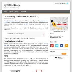 Introducing Turbolinks for Rails 4.0 - GeekMonkey