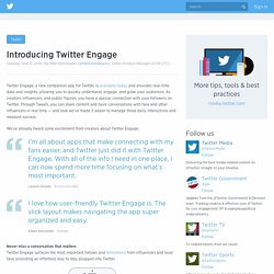 Introducing Twitter Engage