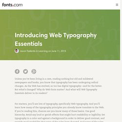 Introducing Web Typography Essentials « Fonts.com Blog