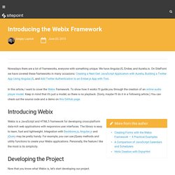 Introducing the Webix Framework