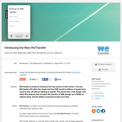 Introducing the New WeTransfer - WeTransfer (press release)