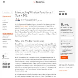 Introducing Window Functions in Spark SQL