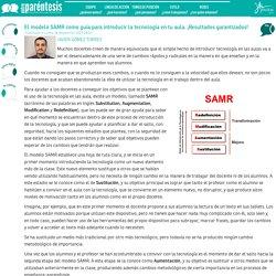 El modelo SAMR como guía para introducir la tecnología en tu aula. ¡Resultados garantizados!