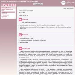 TP spectre Soleil - UFE Observatoire Paris