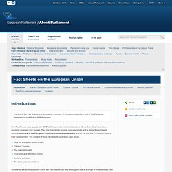 FACTSHEETS on the EU