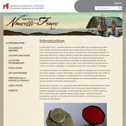 Beaucoup d'informations sur la Nouvelle-France (référence)